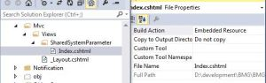 Set the build action into embedded resource